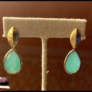 Vermeil leaf earrings